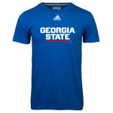 Adidas Climalite Royal Ultimate Performance Tee-Georgia State Wordmark
