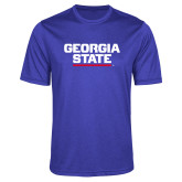 Performance Royal Heather Contender Tee-Georgia State Wordmark