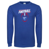 Royal Long Sleeve T Shirt-Panther Head w/ Football