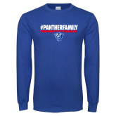Royal Long Sleeve T Shirt-#PantherFamily