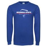 Royal Long Sleeve T Shirt-Georgia State Softball Stacked