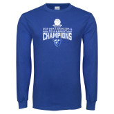 Royal Long Sleeve T Shirt-2018 Mens Sun Belt Champions