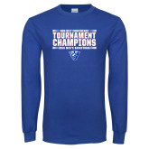 Royal Long Sleeve T Shirt-Sun Belt Mens Tournament Champions