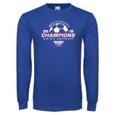 Royal Long Sleeve T Shirt-2018 Georgia State Mens Soccer Champions