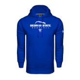 Under Armour Royal Performance Sweats Team Hoodie-Georgia State Baseball Stacked