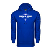 Under Armour Royal Performance Sweats Team Hood-Georgia State Basketball Stacked