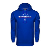 Under Armour Royal Performance Sweats Team Hoodie-Georgia State Volleyball Stacked