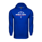 Under Armour Royal Performance Sweats Team Hood-Georgia State Soccer Stacked