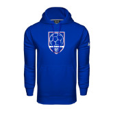 Under Armour Royal Performance Sweats Team Hoodie-Soccer Shield w/ Panther Head