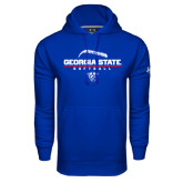 Under Armour Royal Performance Sweats Team Hoodie-Georgia State Softball Stacked