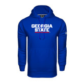 Under Armour Royal Performance Sweats Team Hood-Georgia State Wordmark