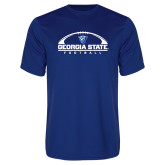 Syntrel Performance Royal Tee-Georgia State Football Flat