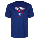 Performance Royal Tee-Panther Head w/ Football