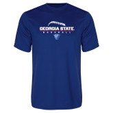 Syntrel Performance Royal Tee-Georgia State Baseball Stacked