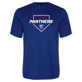 Performance Royal Tee-Panthers Baseball w/ Plate