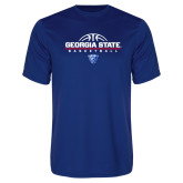 Syntrel Performance Royal Tee-Georgia State Basketball Stacked