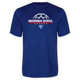 Syntrel Performance Royal Tee-Georgia State Soccer Stacked