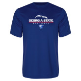 Syntrel Performance Royal Tee-Georgia State Softball Stacked