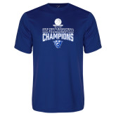 Performance Royal Tee-2018 Mens Sun Belt Champions