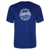 Performance Royal Tee-Sun Belt Mens Basketball Champions