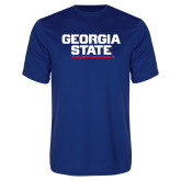 Syntrel Performance Royal Tee-Georgia State Wordmark