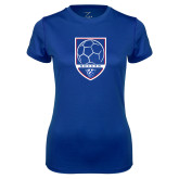 Ladies Syntrel Performance Royal Tee-Soccer Shield w/ Panther Head