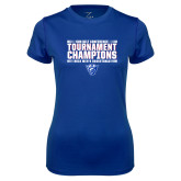 Ladies Syntrel Performance Royal Tee-Sun Belt Mens Tournament Champions