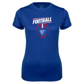 Ladies Syntrel Performance Royal Tee-Panther Head w/ Football