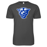 Next Level SoftStyle Charcoal T Shirt-Panther Head