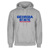 Grey Fleece Hood-Georgia State Wordmark