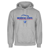 Grey Fleece Hoodie-Georgia State Softball Stacked