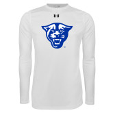 Under Armour White Long Sleeve Tech Tee-Panther Head