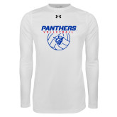 Under Armour White Long Sleeve Tech Tee-Panthers Volleyball w/ Ball