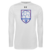 Under Armour White Long Sleeve Tech Tee-Soccer Shield w/ Panther Head