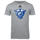 Adidas Sport Grey Logo T Shirt-Panther Head