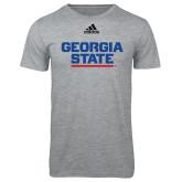 Adidas Sport Grey Logo T Shirt-Georgia State Wordmark