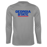 Syntrel Performance Steel Longsleeve Shirt-Georgia State Wordmark