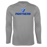 Performance Steel Longsleeve Shirt-Panthers w/ Panther Head