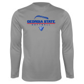 Syntrel Performance Steel Longsleeve Shirt-Georgia State Softball Stacked