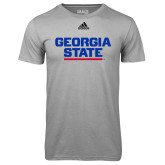 Adidas Climalite Sport Grey Ultimate Performance Tee-Georgia State Wordmark