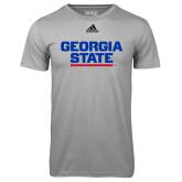 Adidas Climalite Sport Grey Ultimate Performance Tee-Georgia State Wordmark