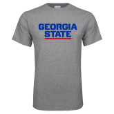 Grey T Shirt-Georgia State Wordmark
