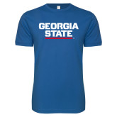 Next Level SoftStyle Royal T Shirt-Georgia State Wordmark