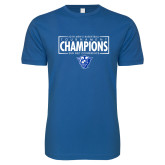 Next Level SoftStyle Royal T Shirt-2018 Mens Basketball Tournament Champions