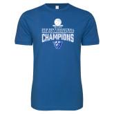 Next Level SoftStyle Royal T Shirt-2018 Mens Sun Belt Champions