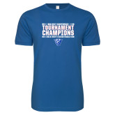 Next Level SoftStyle Royal T Shirt-Sun Belt Mens Tournament Champions