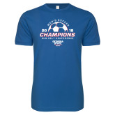 Next Level SoftStyle Royal T Shirt-2018 Georgia State Mens Soccer Champions