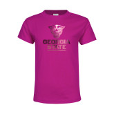 Youth Fuchsia T-Shirt-Official Logo Foil