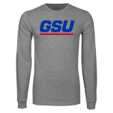 Grey Long Sleeve T Shirt-GSU