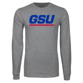 Grey Long Sleeve T Shirt-GSU